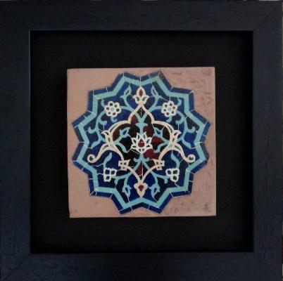 کاشی دکوراتیو پتینه طرح شمسه رضا کاظمی
